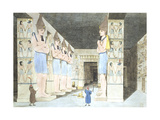 Interior of the Temple at Ybsambul Newly Opened Giclee Print by Giovanni Battista Belzoni