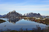 View to the Bay and the Fishing Village Reine, Lofoten Photographic Print by Stefan Sassenrath