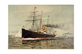 North German Lloyd Steamship Lahn Giclee Print