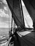 Schooner Doris Hamlin Bound Down Chesapeake Bay from Baltimore to Newport News Photographic Print by A. Aubrey Bodine
