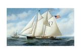 American Pilot Schooner, Fannie Giclee Print by Antonio Jacobsen