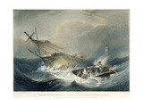 Wreck of the Forfarshire Steamer on One of the Rocks of the Ferne Island Giclee Print by James Wilson Carmichael