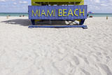 Beach Watch-Tower '5 St', Lifeguard Tower, Atlantic, Miami South Beach, Art Deco District Photographic Print by Axel Schmies