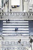 People with Umbrellas, Vertical View from the Elevador De Santa Justa, Lisbon Reprodukcja zdjęcia autor Axel Schmies