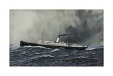 Steamship Proteus Underway Giclee Print by Antonio Jacobsen