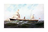 Iron Screw Steamship Columbia Giclee Print by Antonio Jacobsen