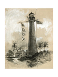 Cape Florida Lighthouse Giclee Print by Harry Fenn