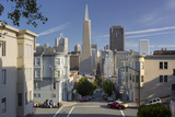 Montgomery Street, Transamerica Pyramid, Telegraph Hill, San Francisco, California, Usa Photographic Print by Rainer Mirau