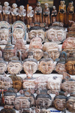 Burmese Wooden Masks at Market in Bagan, Myanmar Photographic Print by Harry Marx