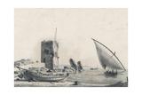 Bateaux Pecheurs Ca. 1806 Giclee Print by Jean Jerome Baugean
