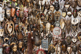 South Africa, Cape Town, Green Market Square, Masks Photographic Print by Catharina Lux