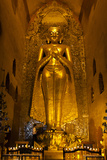 Golden Buddha Statue at Ananda Temple in Bagan, Myanmar Photographic Print by Harry Marx