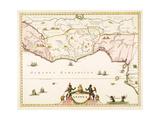 Guinea - Oceanus Aethiopicus 1662 Giclee Print by Jan Jansson