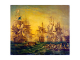 Lord Nelson at Aboukir Bay Giclee Print by James Wilson Carmichael