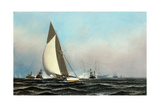 Cutter Yacht Volunteer 1887 Giclee Print by Antonio Jacobsen