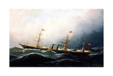 British Steamship City of Richmond Giclee Print by Antonio Jacobsen