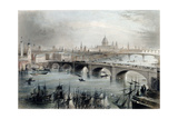 View of London Giclee Print by William Henry Bartlett