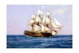 Ship of Old Reproduction procédé giclée par Montague Dawson
