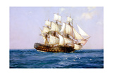 Ship of Old Giclee Print by Montague Dawson