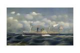 American Steamboat Calhoun Giclee Print by James Bard