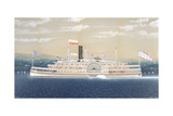American Steamboat Kaaterskill Giclee Print by James Bard