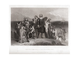 The First Landing of the Pilgrims in 1620 Giclee Print by Charles Lucey