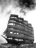 Five-Masted Preussen under Full Sail Photographic Print