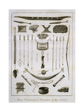 Arms, Ornaments and Furniture of the Indians,1772 Giclee Print by John Gabriel Stedman