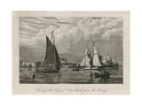 View of the Bay of New York from the Battery Ca 1843-1844 Giclee Print by William James Bennett