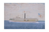 American Steamboat John L. Hasbrouck Giclee Print by James Bard
