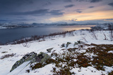 Norway, Fjord, Badderfjorden, the North, Winter, Game, Soft, Rocks, Light, Atmosphere Photographic Print by Stefan Hefele