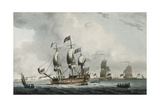 Yacht in a Light Breeze, with a View of Harwich Giclee Print by Dominic Serres