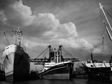 Nueva Gloria and Houffalize in the Harbor Photographic Print by A. Aubrey Bodine