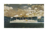 American Steamboat Commodore, 1849-1866 Giclee Print by James Bard