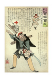 General Kuropatkin Ready for Anything Awaits the Coming of the Japanese Giclee Print by Kobayashi Kiyochika