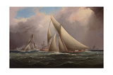 Mayflower Leading Galatea around the Lightship Giclee Print by James Edward Buttersworth