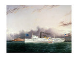 Steamboat Escort Off the Battery, 1863 Giclee Print by James Edward Buttersworth
