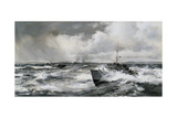 The Blockade of Cherbourg Giclee Print by Montague Dawson