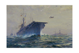 Uss Lexington Giclee Print by Frank Vining Smith