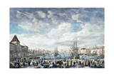 Le Port De Marseilles Giclee Print by Claude Joseph Vernet