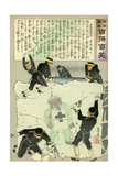Russian Retreat Where Japanese Cannot Follow Giclee Print by Kobayashi Kiyochika