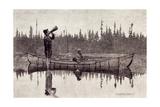 Maliseet Hunters Calling a Moose Giclee Print by Edwin Tappan Adney