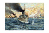U.S. Navy - Naval Battle of Manila - May 1st, 1898 Giclee Print by  Werner