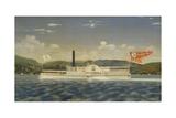 American Steamboat Metamora Giclee Print by James Bard