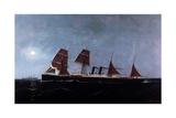 German Steamship Elder Giclee Print by Antonio Jacobsen