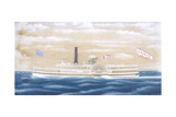 American Steamboat Cygnus Giclee Print by James Bard