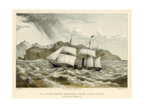 U.S. Steam Frigate Mississippi Passing Punta Tristao Giclee Print by James Queen