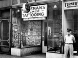 Coleman's Tattooing Place Photographic Print by Cap Coleman