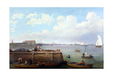 View of the Philadelphia Navy Yard Giclee Print by Thomas Birch