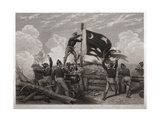 Raising the Flag over Fort Moultrie Giclee Print by J.a. Oertel